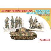 Dragon 7400 3rd Fallschirmjager Division + King Tiger Henschel Production Ardennes 1944